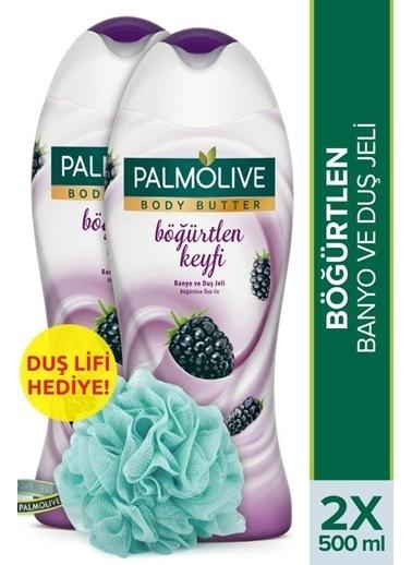 Palmolive Palmolive Body Butter Böğürtlen Keyfi 2'li Duş Jeli 500 ml ve Duş Lifi Hediye Renksiz